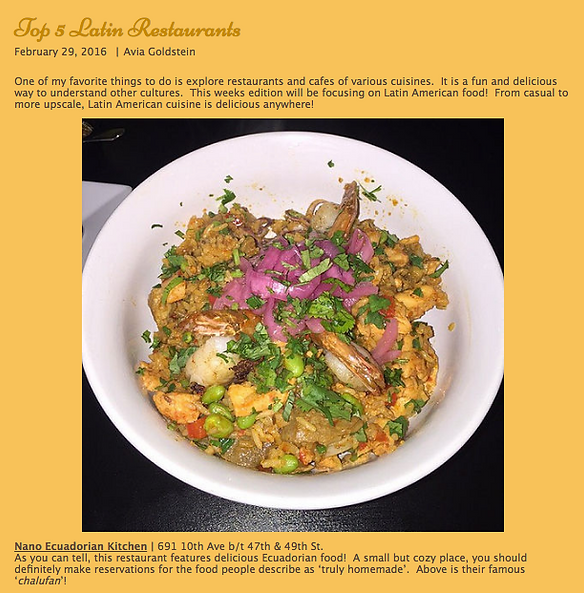 A screenshot of food reviewer about our chaulafan. A seafood fried rice.