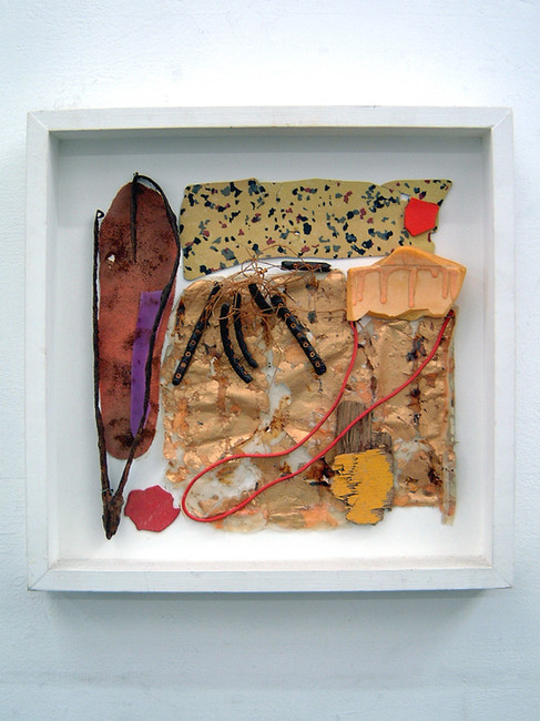 'Golden Sections', 1991, 39 x 39 x 6 cm, found object assemblage