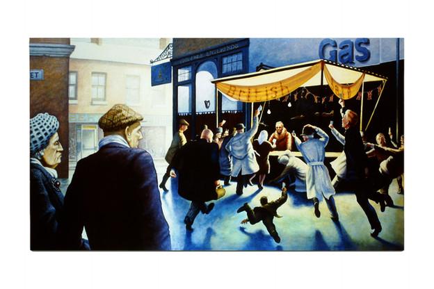 'Free Enterprise', 1987, 91 x 160 cm, oil on canvas