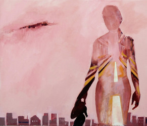 Suzan Swale (b.1946) 'Rise Like a Phoenix' 2017, acrylic on canvas, 50 x 60 cm