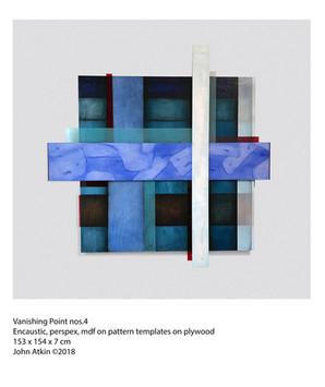 John Atkin (b.1959) 'Vanishing Point no 4', Encaustic, perspex, mdf on pattern templates on plywood, 153 x 154 x 7 cm
