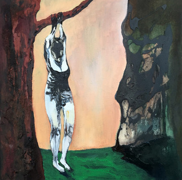 Richard Harrison (b.1954) 'Branching Out' 2019, 50 x 50 cm