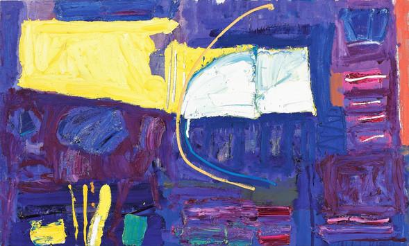 Alan Gouk (1939) 'Through the Years' 1999, 61 x 102 cm, oil on canvas