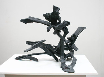 Katherine Gili (b.1948) 'Kyanite' 2017, forged and welded mild steel, zinc sprayed and patinated, H 63 x 84 x 58 cm
