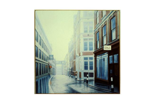 'Raining on the Sun', 1983, 114 x 114 cm, oil on canvas