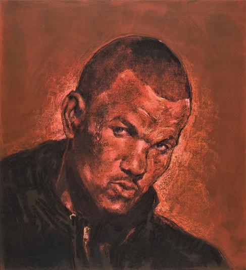 Tam Joseph (b.1947) 'The Game Is Over', 70 x 70 cm