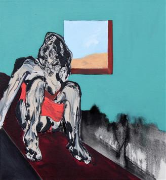 Richard Harrison (b.1954) 'A Darkness I Keep To Myself' 2019, 70 x 65 cm