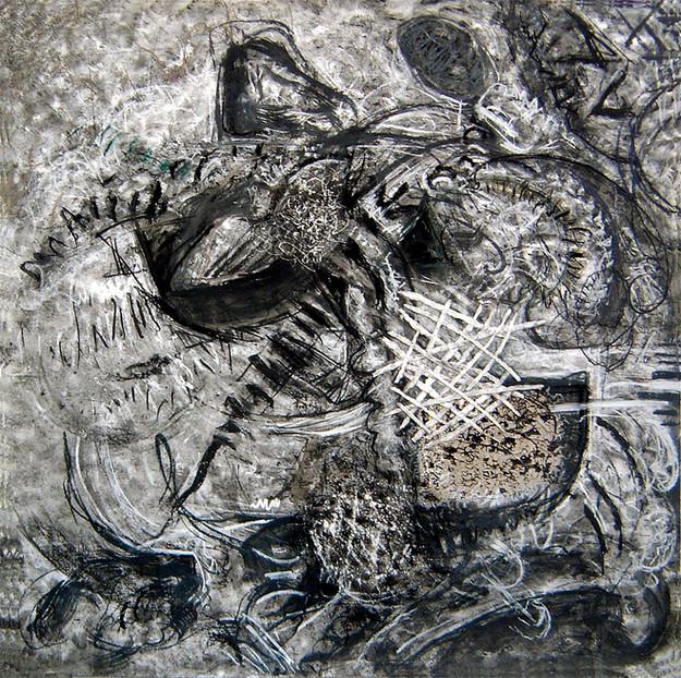 David Redfern (b.1947) 'Kandinsky Drawing No 9', 122 x 122cm