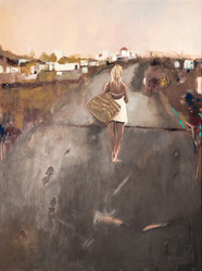 Suzan Swale (b.1946) 'The Long Walk Home' 2020, acrylic on canvas, 100 x 76 cm  Contact for Price
