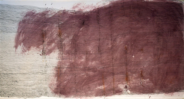 Rosie Leventon 'Drawing with Rust' 2007, 79 x 147 cm