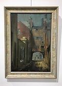 William Rothenstein (1872-1945), Street Scene (probably Germany)