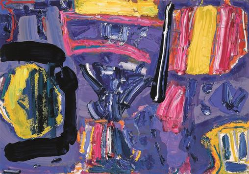 Alan Gouk (1939) 'Un Limon por Civilion' 1999, 71 x 102 cm, oil on canvas