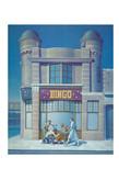 David Redfern (b.1947) 'Et en Arcadia Bingo' 1984, oil on canvas, 160 x 114 cm  Wolverhampton Art Gallery