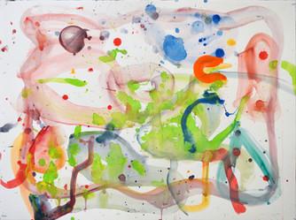James Faure Walker (b.1948) 'Sky Radio' 2018, 56 x 76 cm, gouache
