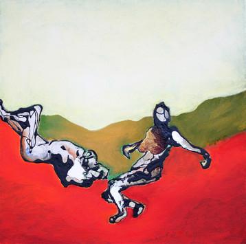 Richard Harrison (b.1954) 'The Fallen' 2019, 50 x 50 cm