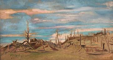 William Rothenstein (1872-1945), Fresnes (WWI battlefield)