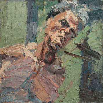 Peter Clossick (b.1948) 'In the Frame' oil on board, 76 x 76 cm