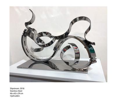 John Atkin (b.1959) 'Slipstream', 2018, stainless steel, 46 x 62 x 29 cm