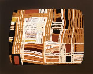 John Hitchens (b.1940) 'Interlocked Fields' 2014, acrylic on canvas, 44 x 59 cm  Contact for Price
