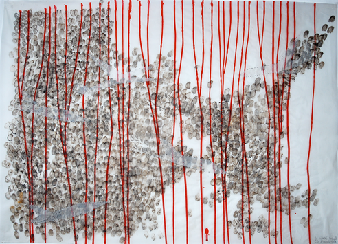 Rosie Leventon 'Drawing with Planes' 2007, 87 x 116 cm