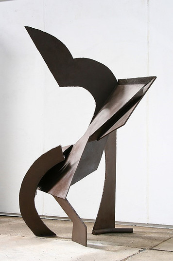 Katherine Gili (b.1948) 'Cut Out' 1977, H 193 x 104 x 96 cm, mild steel, zinc sprayed and painted