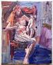 Peter Clossick (b.1948) 'Fe 2' 2008, oil on canvas, 38 x 33 cm framed