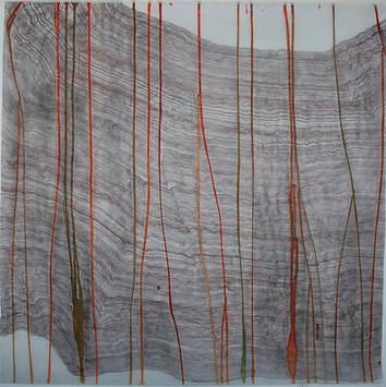Rosie Leventon 'Down' 2008, 110 x 110 cm
