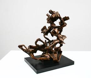 Katherine Gili (b.1948) 'Twyblade' 2017-18, H 48 x 49 x 37 cm, Bronze