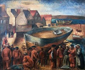 Christopher Wood (1901-1930), Harbour in Brittany / Port en Bretagne