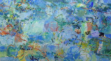 James Faure Walker (b.1948) 'Heron Island' 1984, oil on canvas, 170 x 305 cm.  Contact for Price