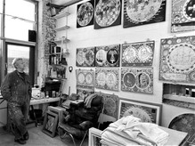 David Redfern in his London studio, 2019