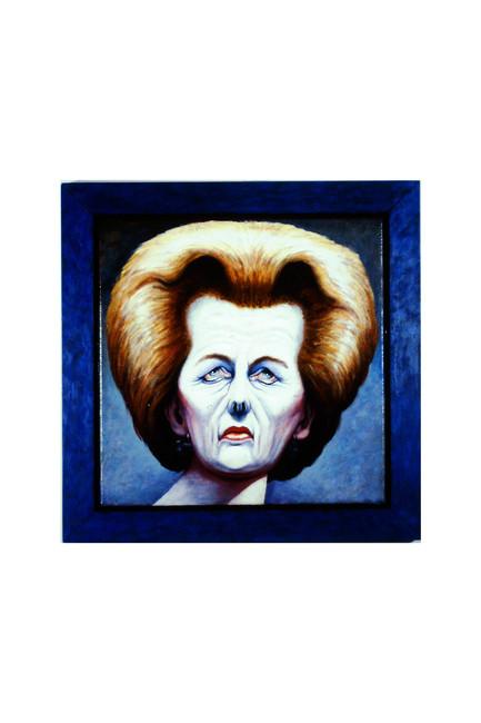 'Margaret Thatcher', 1990 , 41 x 41 cm, oil on canvas