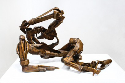 Katherine Gili (b.1948) 'After Matisse' 1980, paper cast into bronze 2020, ed.1/5, H. 50 x 40 x 81 cm