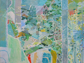 James Faure Walker (b.1948) 'Valley House Hotel' 1987, oil on canvas, 91 x 114 cm  Contact for Price