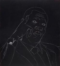 Tam Joseph (b.1947) 'Stormzy Has Got It Sussed', 70 x 70 cm