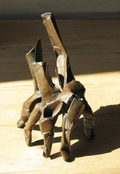 Katherine Gili (b.1948) 'Hand' 1985, bronze (unique), H. 24 x 14 x 15 cm