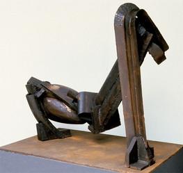 Katherine Gili (b.1948) 'Stem' 1979-80, H 98 x 110 x 50 cm, mild steel painted