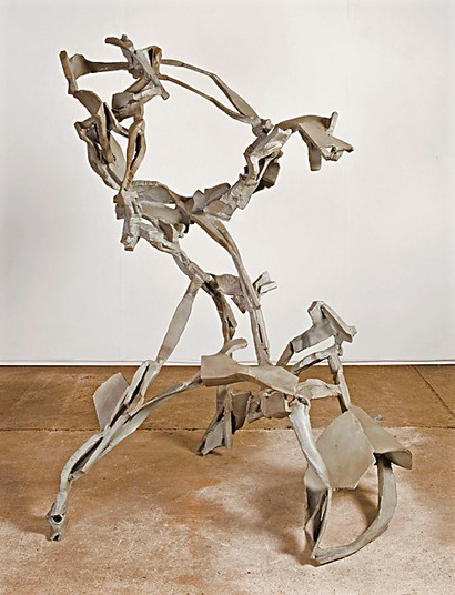 Katherine Gili (b.1948) 'Angouleme' 2006-09, H 166 x 134 x 128 cm, forged mild steel mild steel, zinc sprayed and patinated