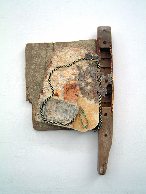 'New Heaven', 1998, 51 x 30 x 10 cm, found object assemblage