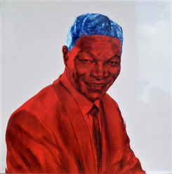 Tam Joseph (b.1947) 'King Of Kings', 70 x 70 cm  Contact for Price