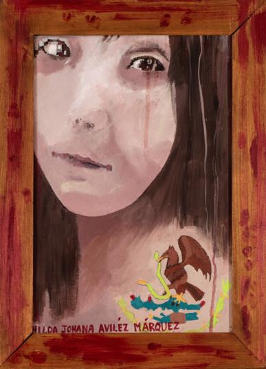 Suzan Swale (b.1946) 'Hilda' 2010, acrylic on canvas, 36 x 25 cm