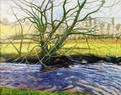 David Shutt (b.1945) 'March Winds' oil on canvas, 121 x 153 cm