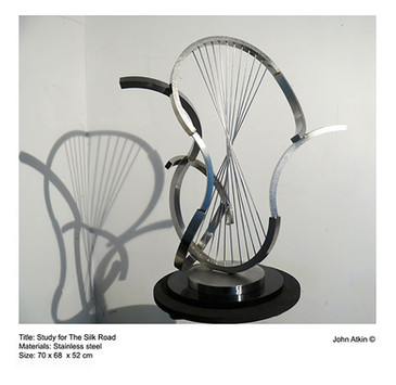 John Atkin (b.1959) 'Study for the Silk Road', stainless steel, 70 x 68 x 52 cm