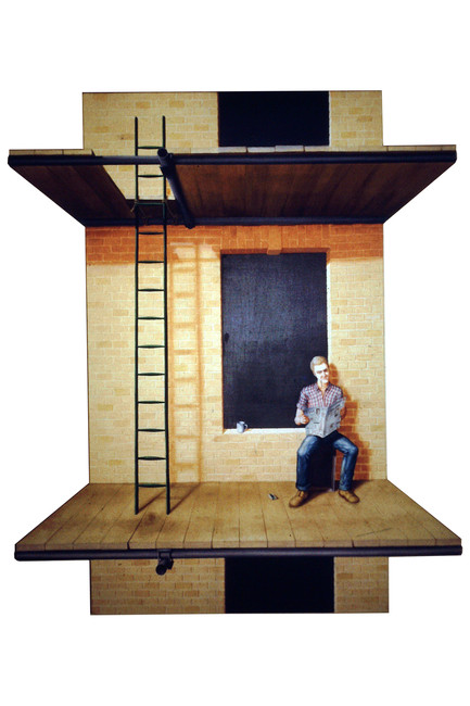 'A Workman', 1972, 142 x 112 cm, oil on shaped canvas
