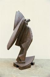 Katherine Gili (b.1948) 'Blow' 1978-79, H 164 x 100 x 88 cm, mild steel, waxed