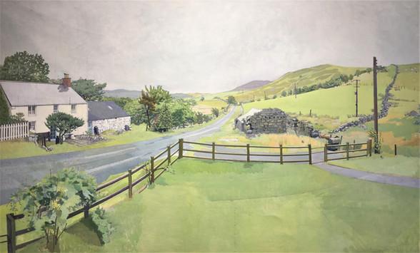 David Shutt (b.1945) 'Seven Orientations From My Window' 1983-88, oil on canvas, 102 x 164cm