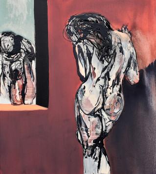 Richard Harrison (b.1954) 'The Voyeur' 2018, 100 x 90 cm
