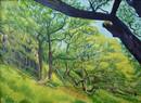 22.   The Slopes of Dinas Emrys            77 x 106 cms.JPG