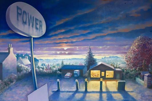 David Redfern (b.1947) 'Ide Hill' 1991, oil on canvas, 46 x 69 cm
