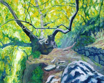 David Shutt (b.1945) 'Track to the Devil's Bridge' oil on canvas, 85 x 105cm